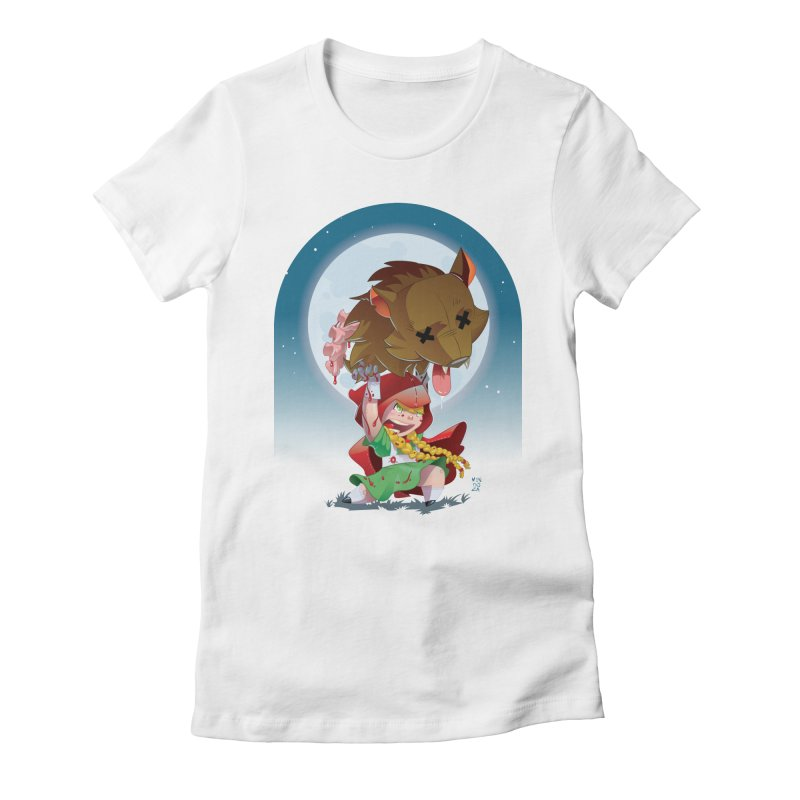 Lil' Red Women's Fitted T-Shirt by Little Ninja Studios, LLC
