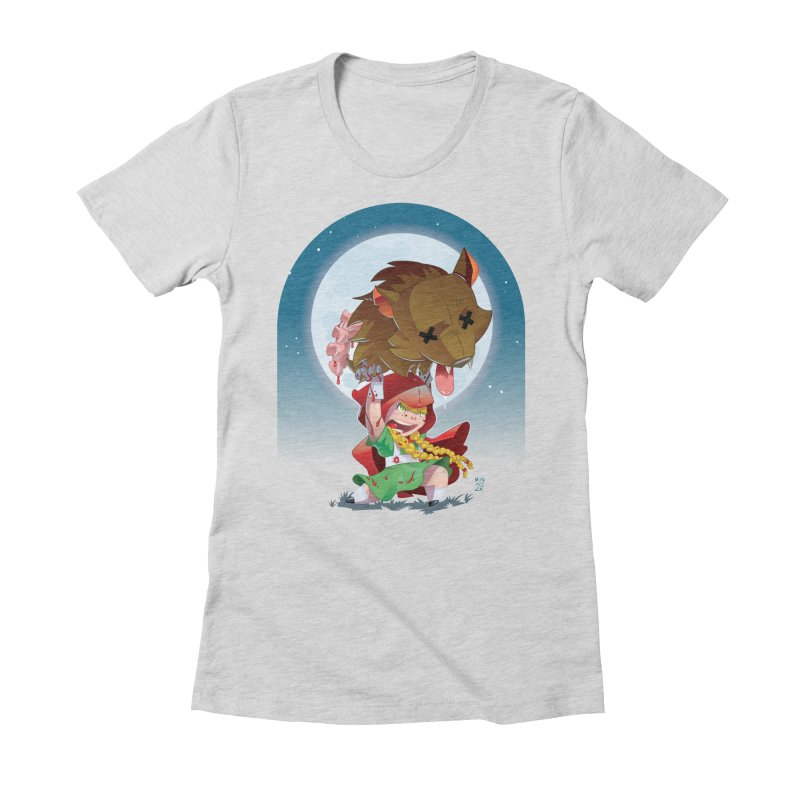 Lil' Red Women's Fitted T-Shirt by Little Ninja Studios
