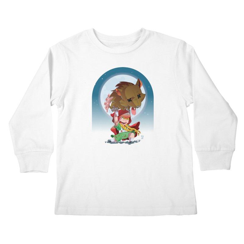 Lil' Red Kids Longsleeve T-Shirt by Little Ninja Studios, LLC