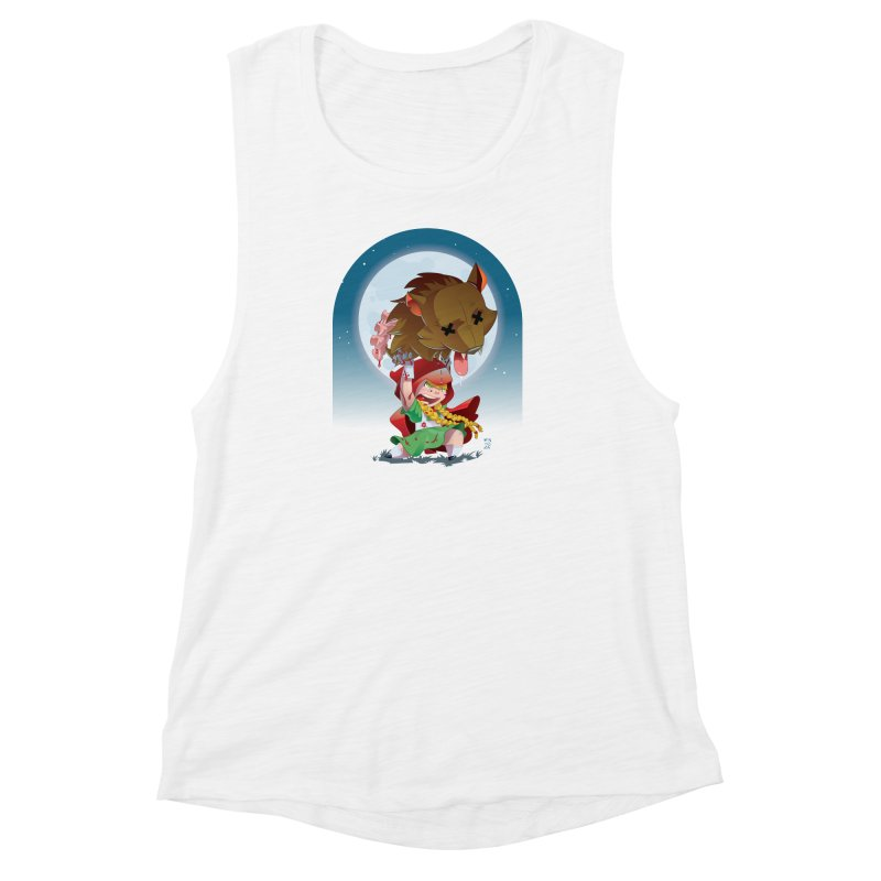 Lil' Red Women's Muscle Tank by Little Ninja Studios, LLC