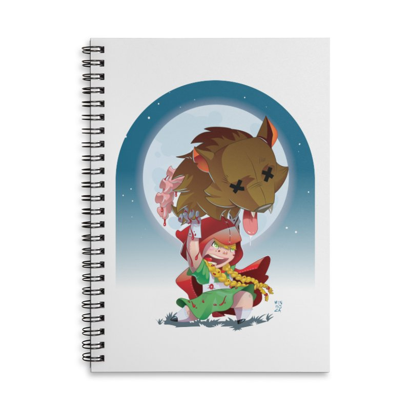 Lil' Red Accessories Lined Spiral Notebook by Little Ninja Studios, LLC