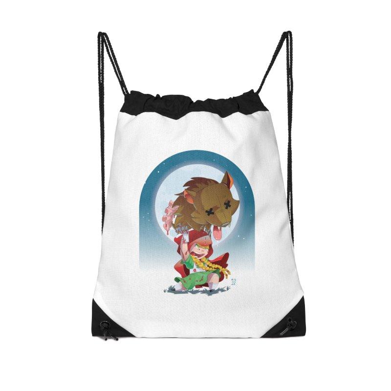 Lil' Red Accessories Drawstring Bag Bag by Little Ninja Studios