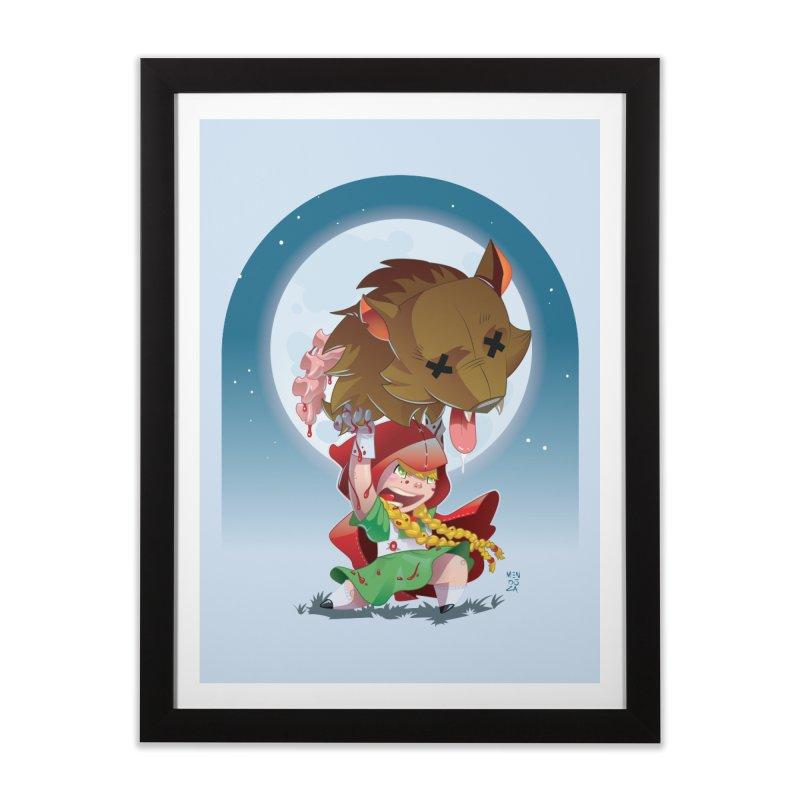 Lil' Red Home Framed Fine Art Print by Little Ninja Studios