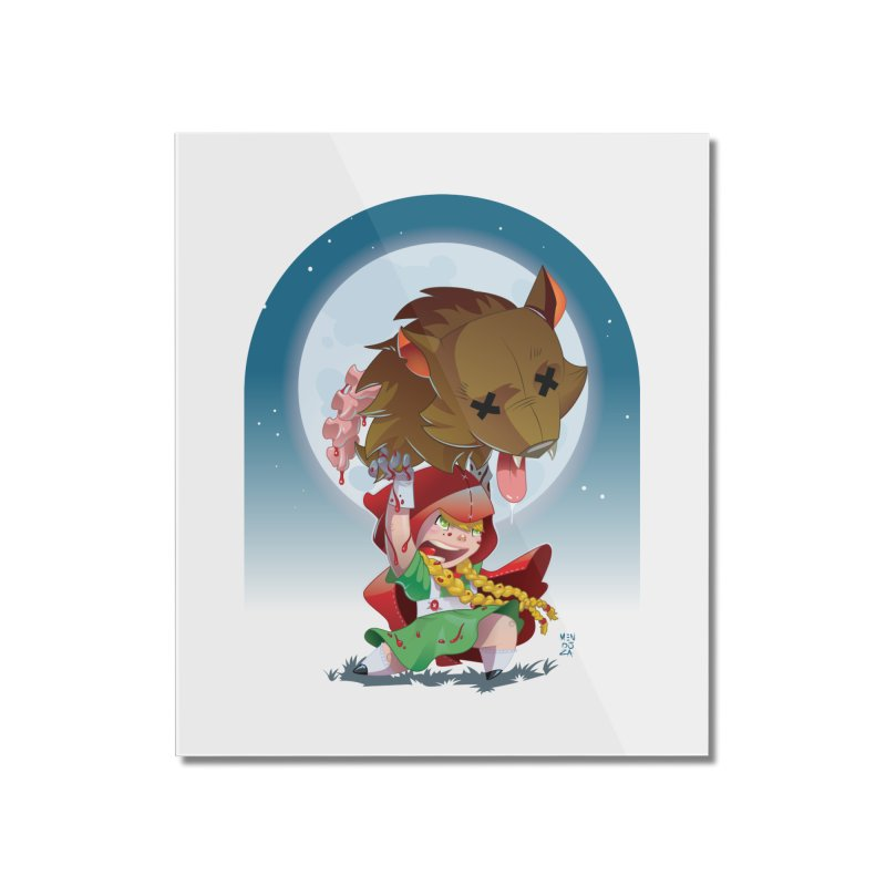 Lil' Red Home Mounted Acrylic Print by Little Ninja Studios, LLC