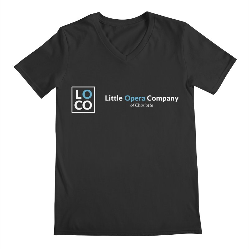 LOCO Logo - Dark in Men's Regular V-Neck Smoke by The Little Opera Company Swag Shop