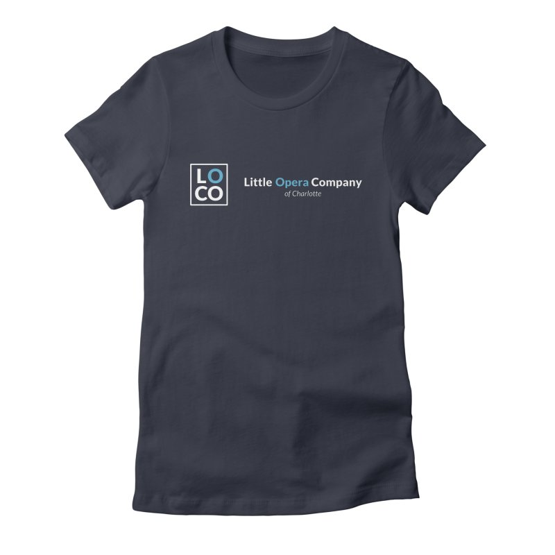 LOCO Logo - Dark Women's Fitted T-Shirt by The Little Opera Company Swag Shop