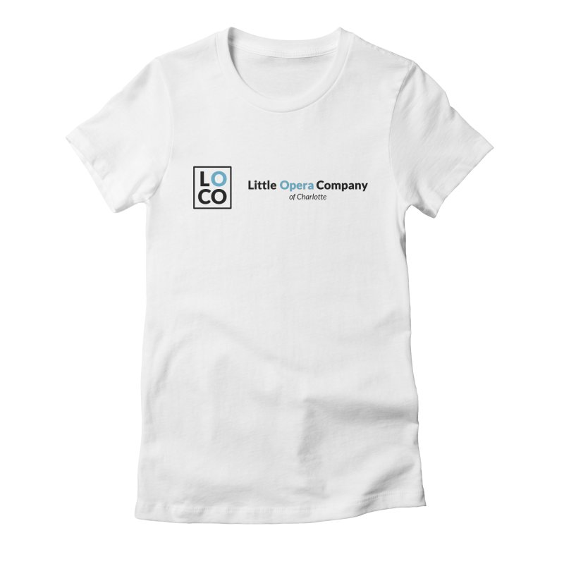 LOCO Logo - Light in Women's Fitted T-Shirt White by The Little Opera Company Swag Shop