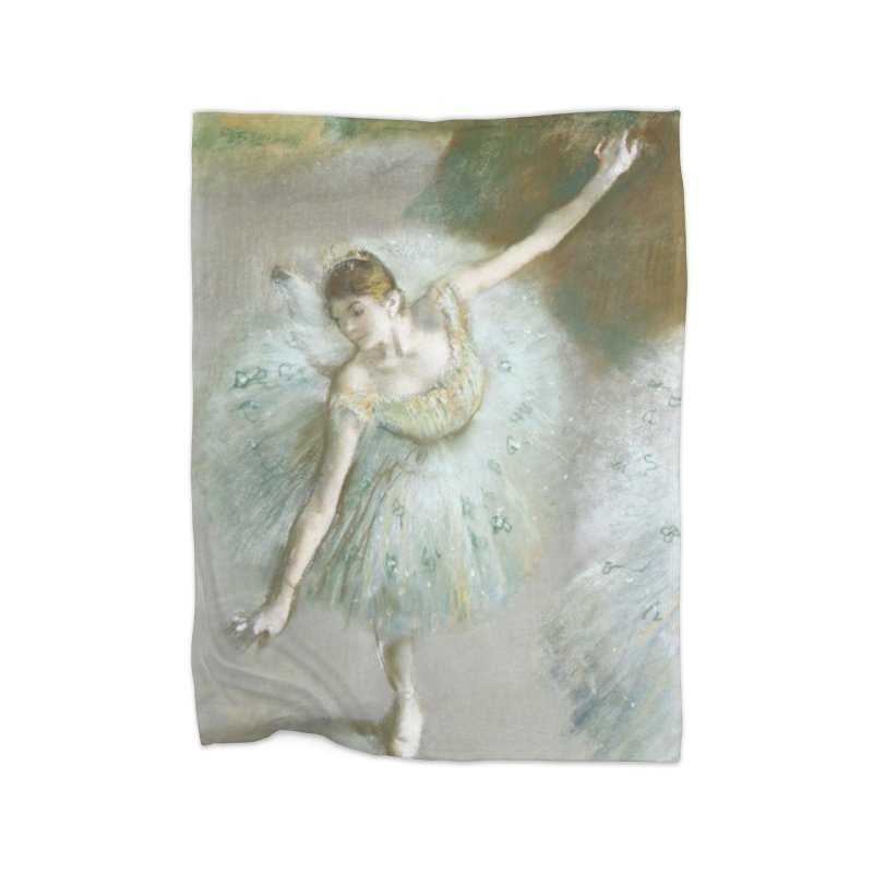 Dancer in Green by Degas Home Fleece Blanket Blanket by The Little Opera Company Swag Shop