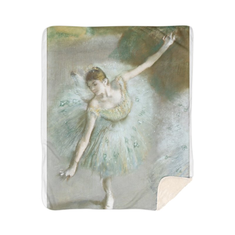 Dancer in Green by Degas Home Sherpa Blanket Blanket by The Little Opera Company Swag Shop