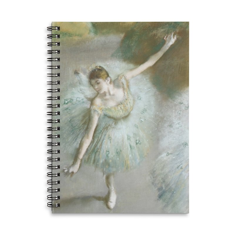 Dancer in Green by Degas Accessories Notebook by The Little Opera Company Swag Shop