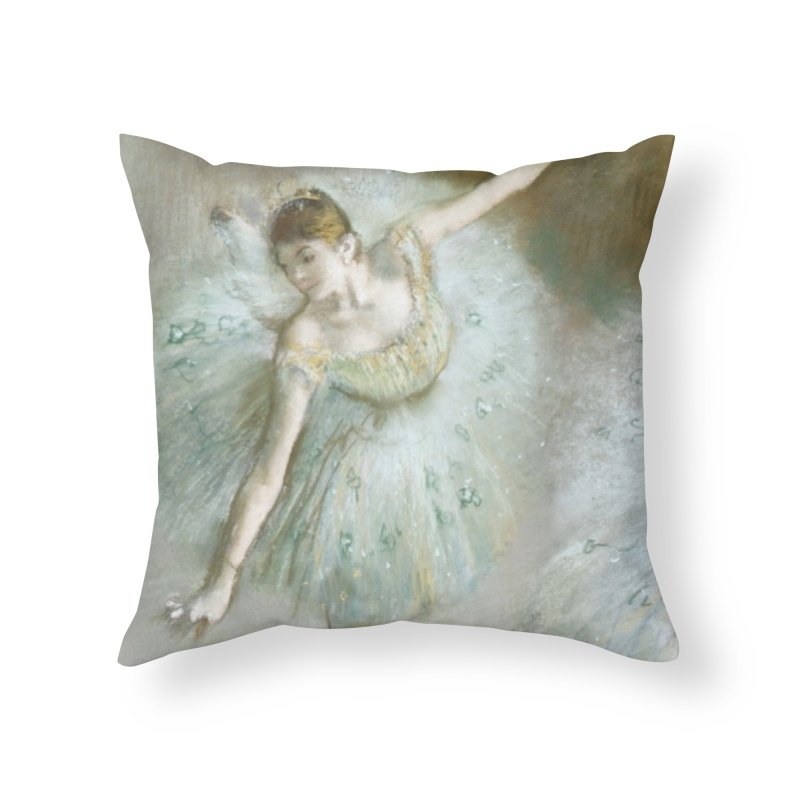 Dancer in Green by Degas Home Throw Pillow by The Little Opera Company Swag Shop