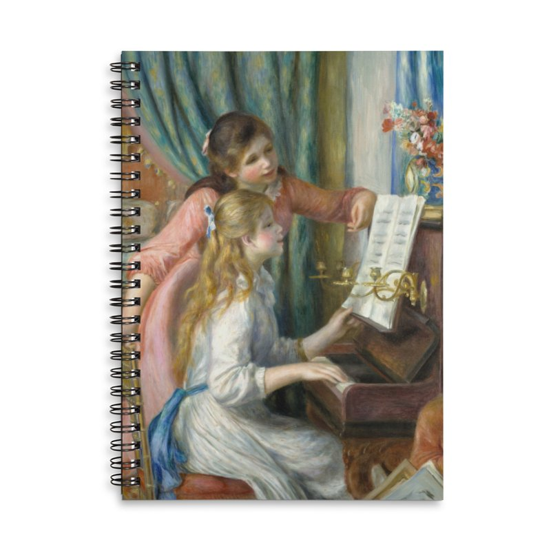 Girls at the Piano by Renoir Accessories Notebook by The Little Opera Company Swag Shop