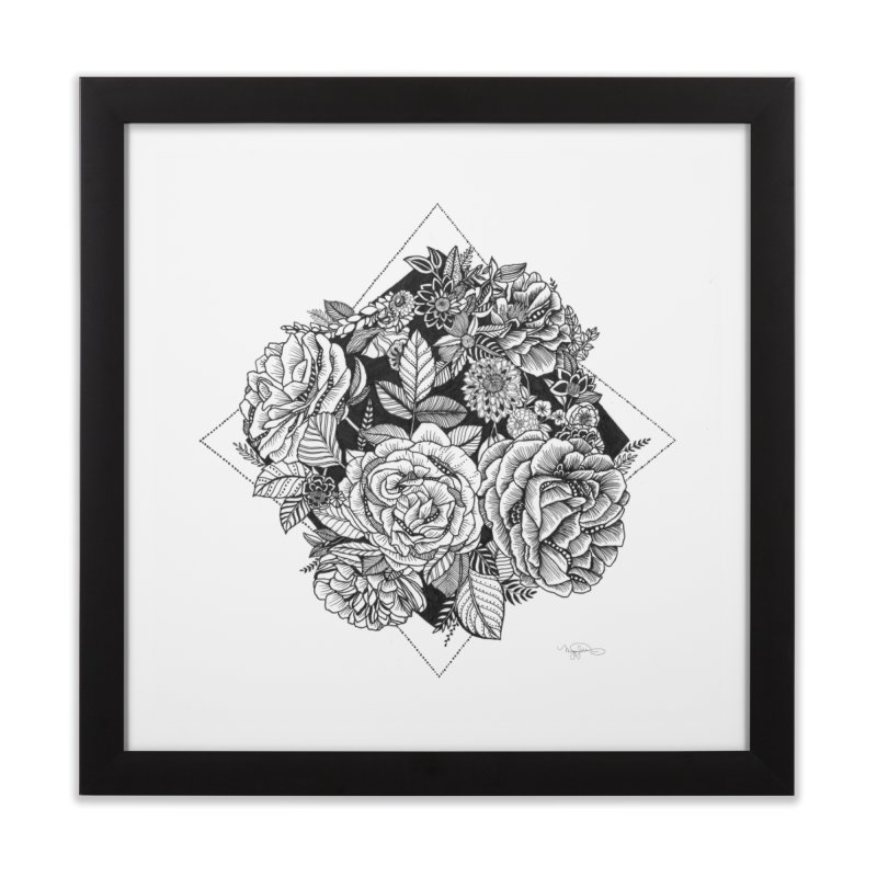 Burst Home Framed Fine Art Print by littlepatterns by Maggie Enterrios