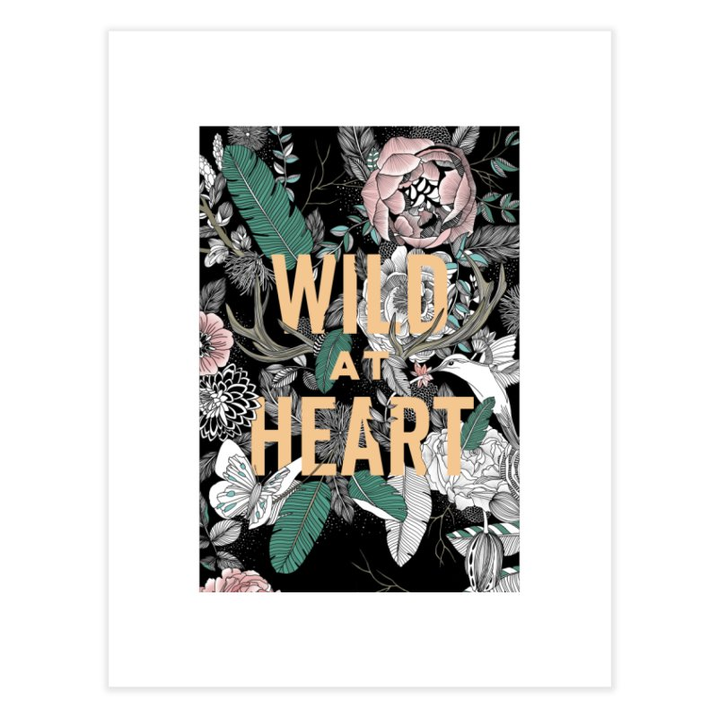 Wild at Heart - Color Home Fine Art Print by littlepatterns by Maggie Enterrios