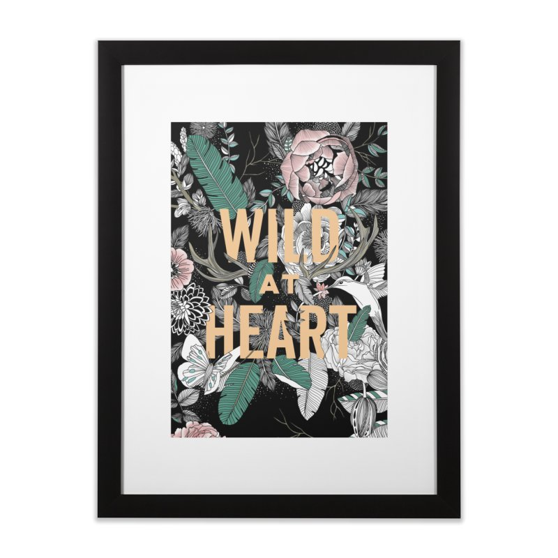 Wild at Heart - Color Home Framed Fine Art Print by littlepatterns by Maggie Enterrios