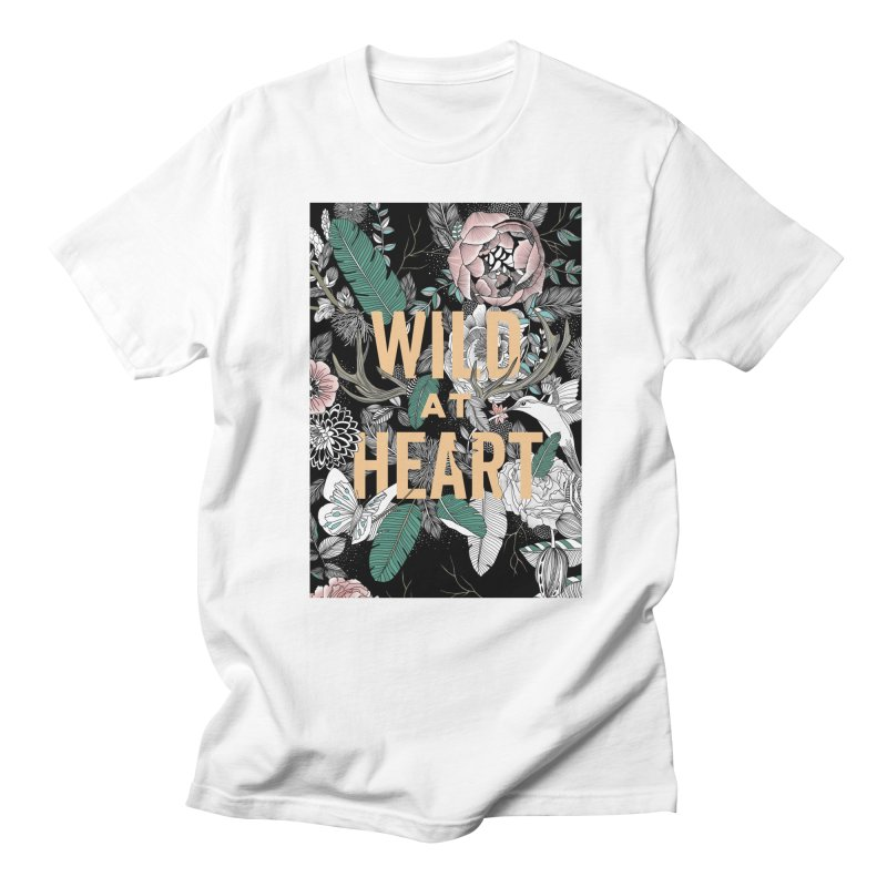 Wild at Heart - Color Men's Regular T-Shirt by littlepatterns by Maggie Enterrios