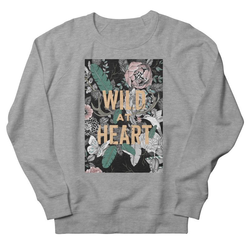 Wild at Heart - Color Women's French Terry Sweatshirt by littlepatterns by Maggie Enterrios