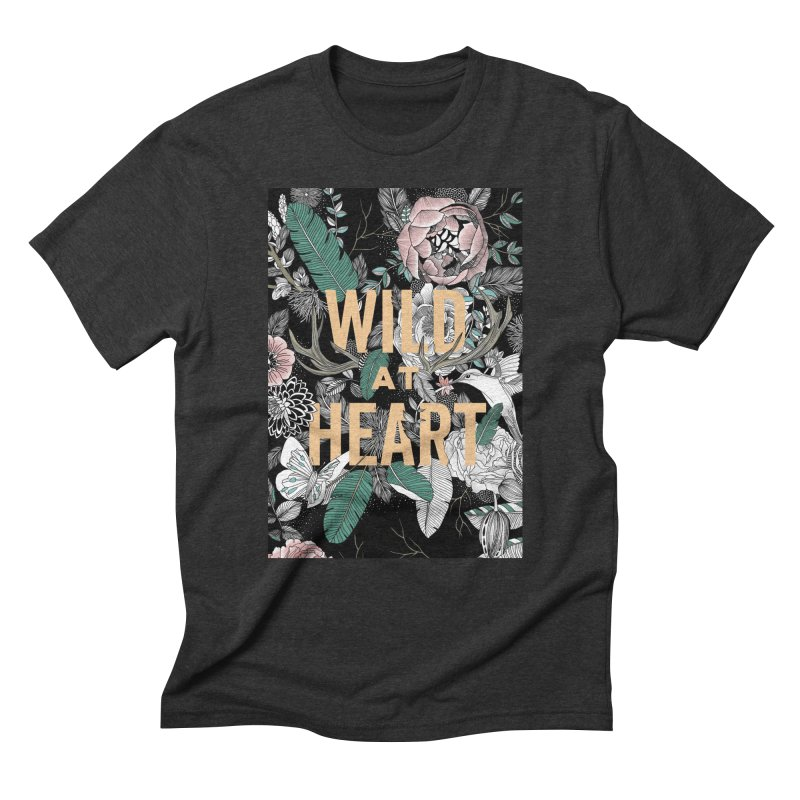 Wild at Heart - Color Men's Triblend T-Shirt by littlepatterns by Maggie Enterrios