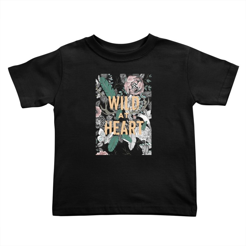 Wild at Heart - Color Kids Toddler T-Shirt by littlepatterns by Maggie Enterrios