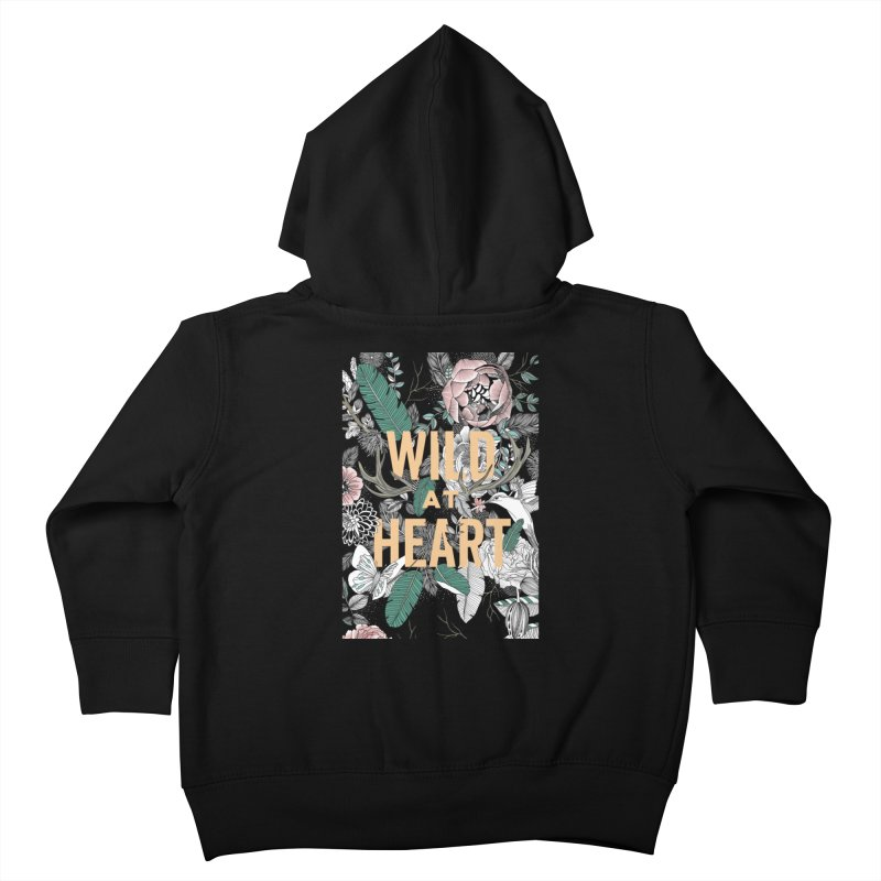 Wild at Heart - Color Kids Toddler Zip-Up Hoody by littlepatterns by Maggie Enterrios