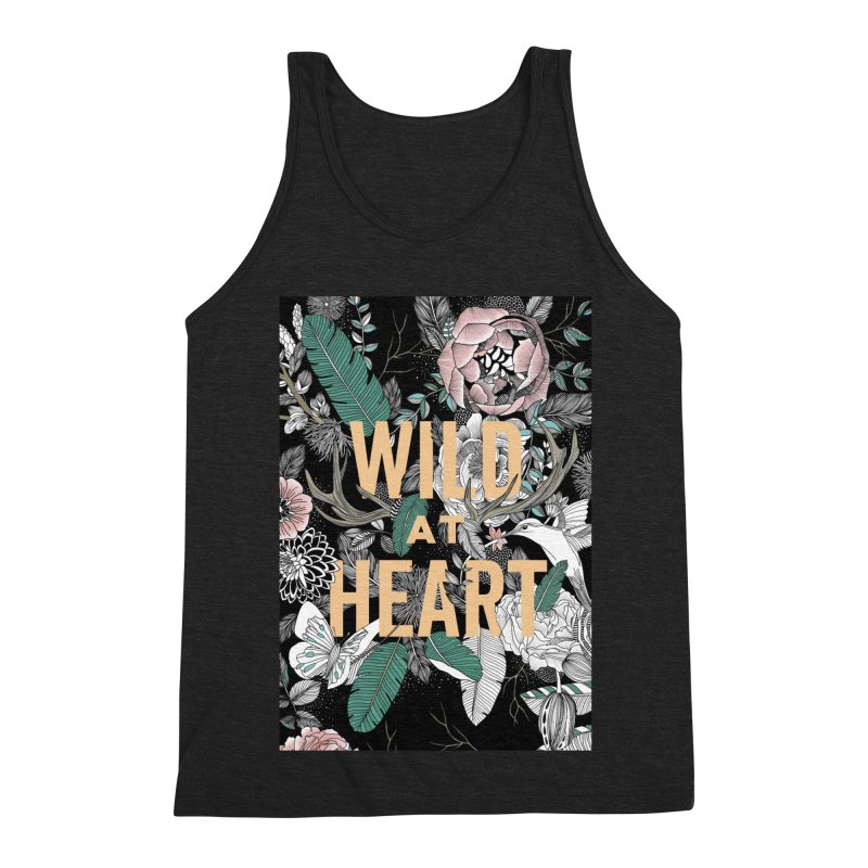 Wild at Heart - Color Men's Triblend Tank by littlepatterns by Maggie Enterrios