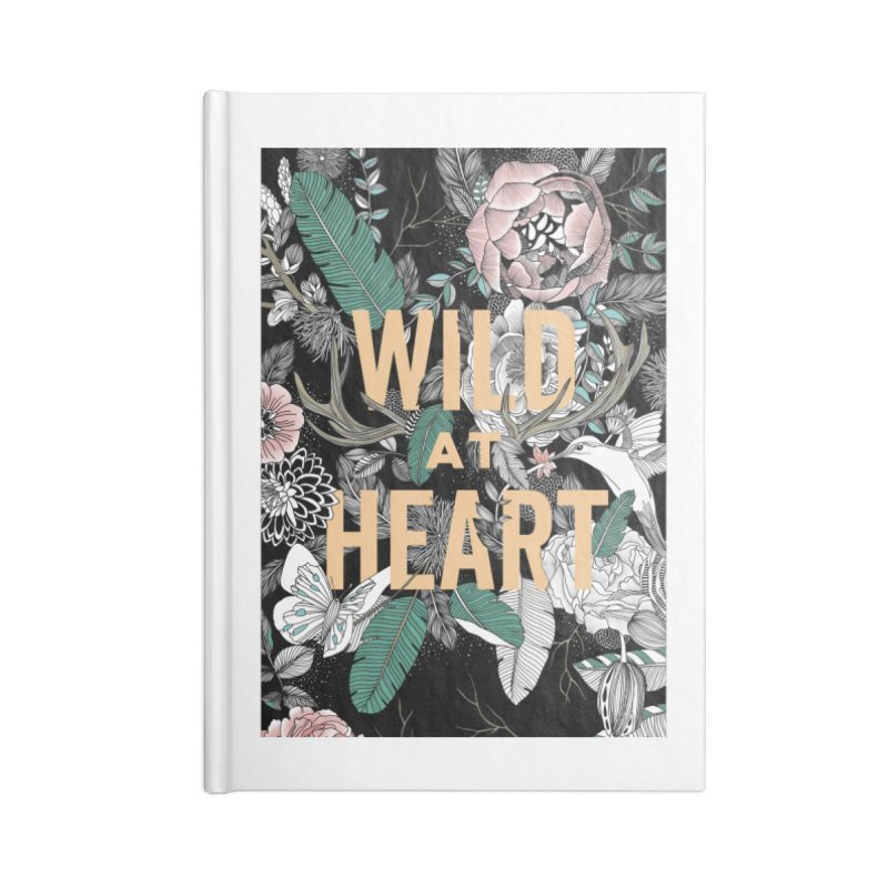 Wild at Heart - Color Accessories Lined Journal Notebook by littlepatterns by Maggie Enterrios