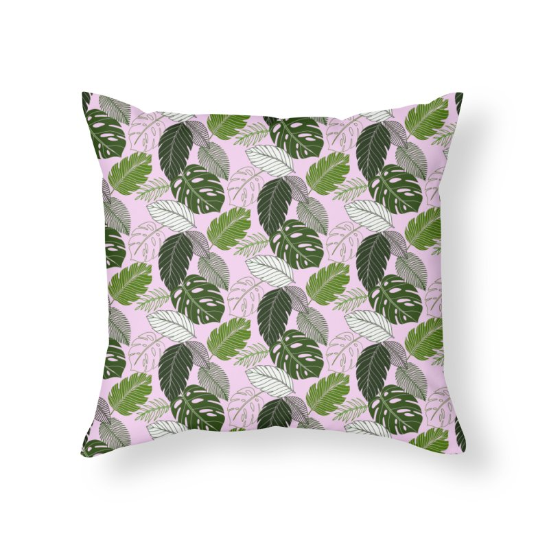 Tropics Home Throw Pillow by littlepatterns by Maggie Enterrios