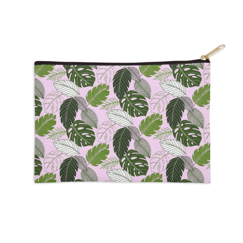 Tropics Accessories Zip Pouch by littlepatterns by Maggie Enterrios