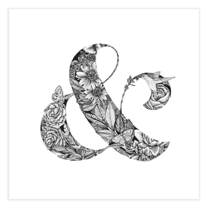 Ampersand Home Fine Art Print by littlepatterns by Maggie Enterrios