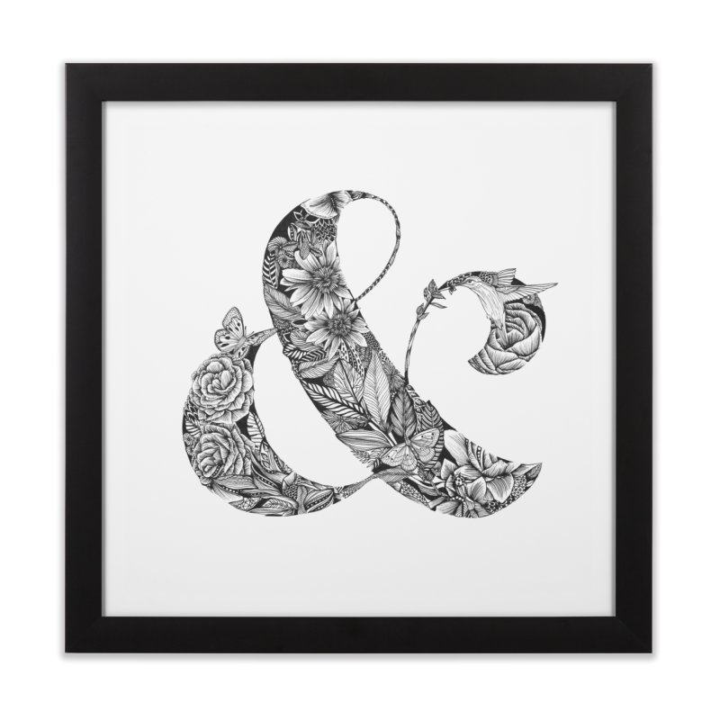 Ampersand Home Framed Fine Art Print by littlepatterns by Maggie Enterrios