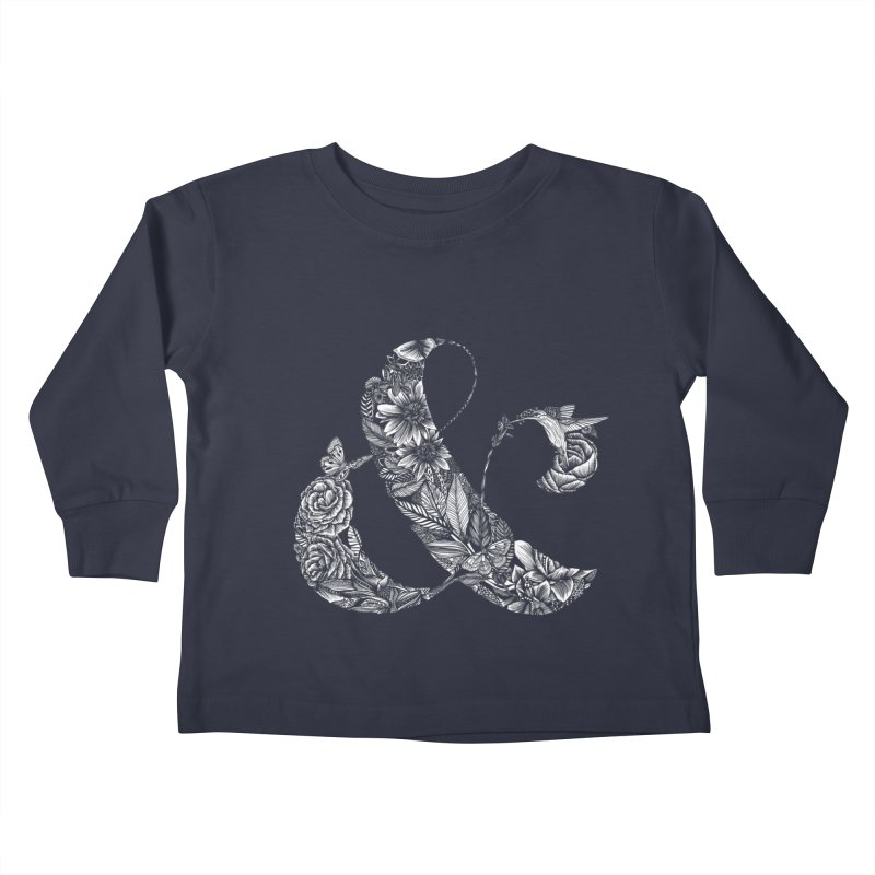 Ampersand Kids Toddler Longsleeve T-Shirt by littlepatterns by Maggie Enterrios