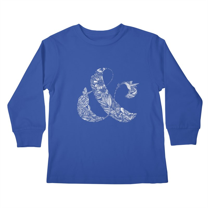 Ampersand Kids Longsleeve T-Shirt by littlepatterns by Maggie Enterrios