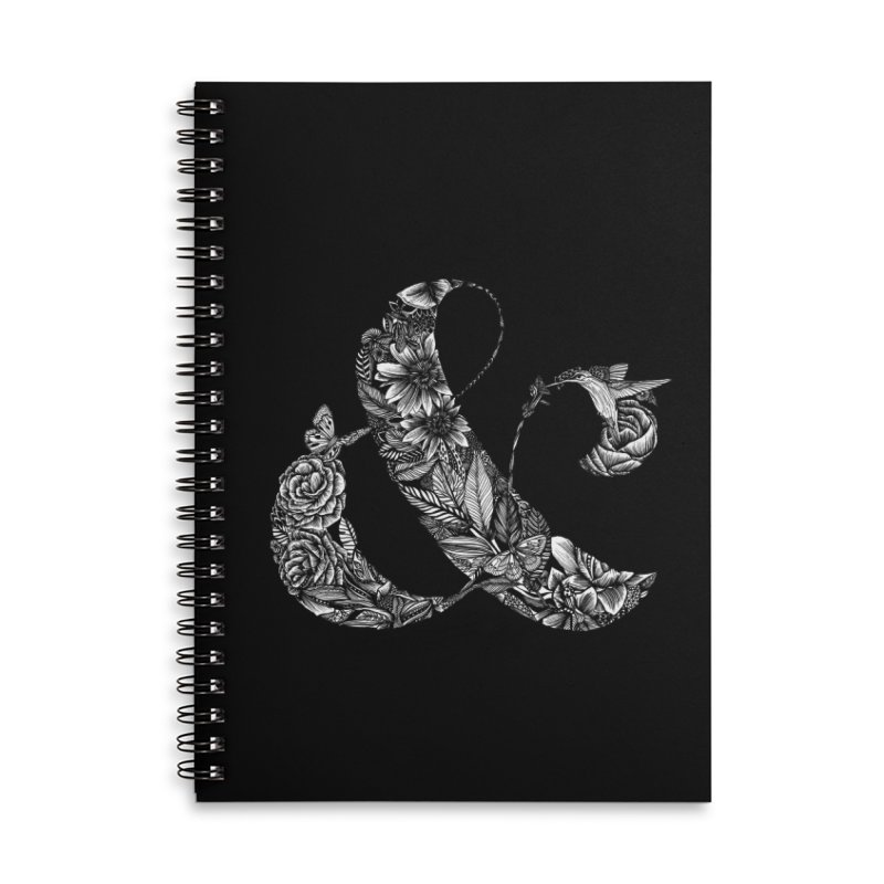 Ampersand Accessories Lined Spiral Notebook by littlepatterns by Maggie Enterrios