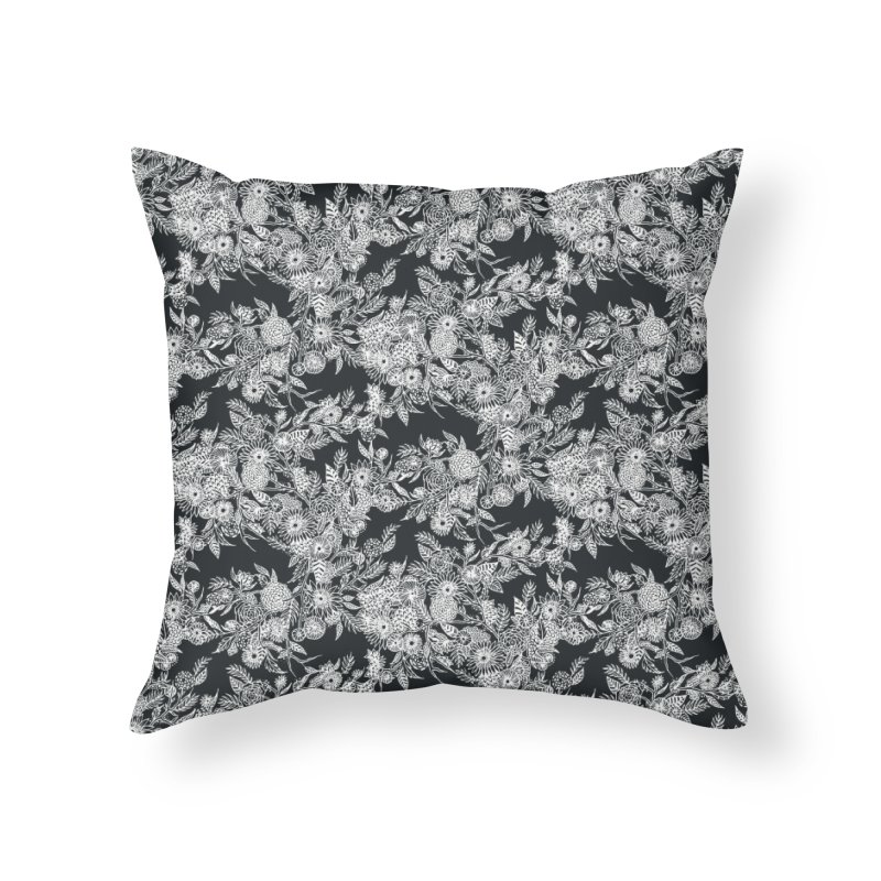 White Ink Whimsy Home Throw Pillow by littlepatterns by Maggie Enterrios