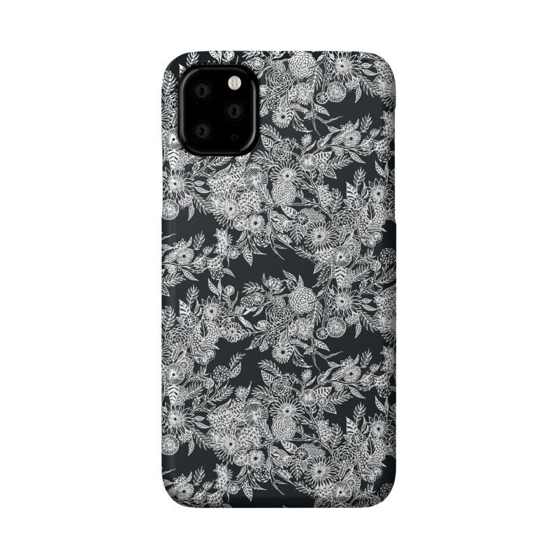 White Ink Whimsy Accessories Phone Case by littlepatterns by Maggie Enterrios