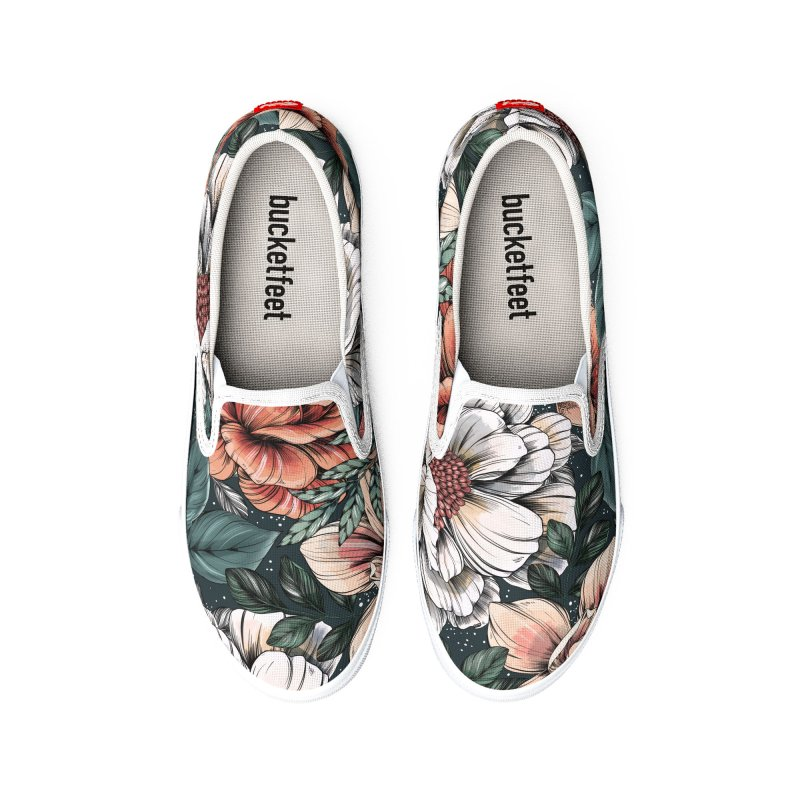Brilliant Blooms Women's Shoes by littlepatterns by Maggie Enterrios