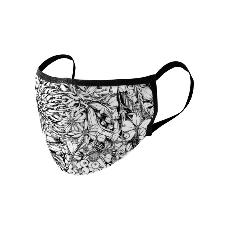 Australia Native Accessories Face Mask by littlepatterns by Maggie Enterrios