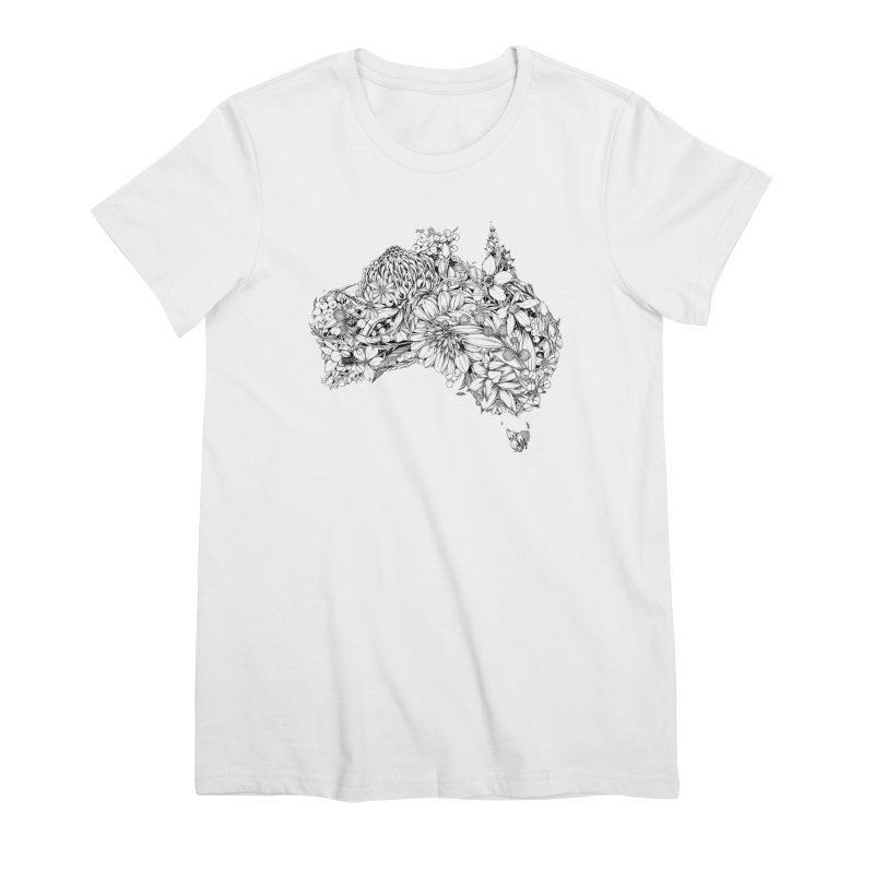 Australia Native Women's T-Shirt by littlepatterns by Maggie Enterrios