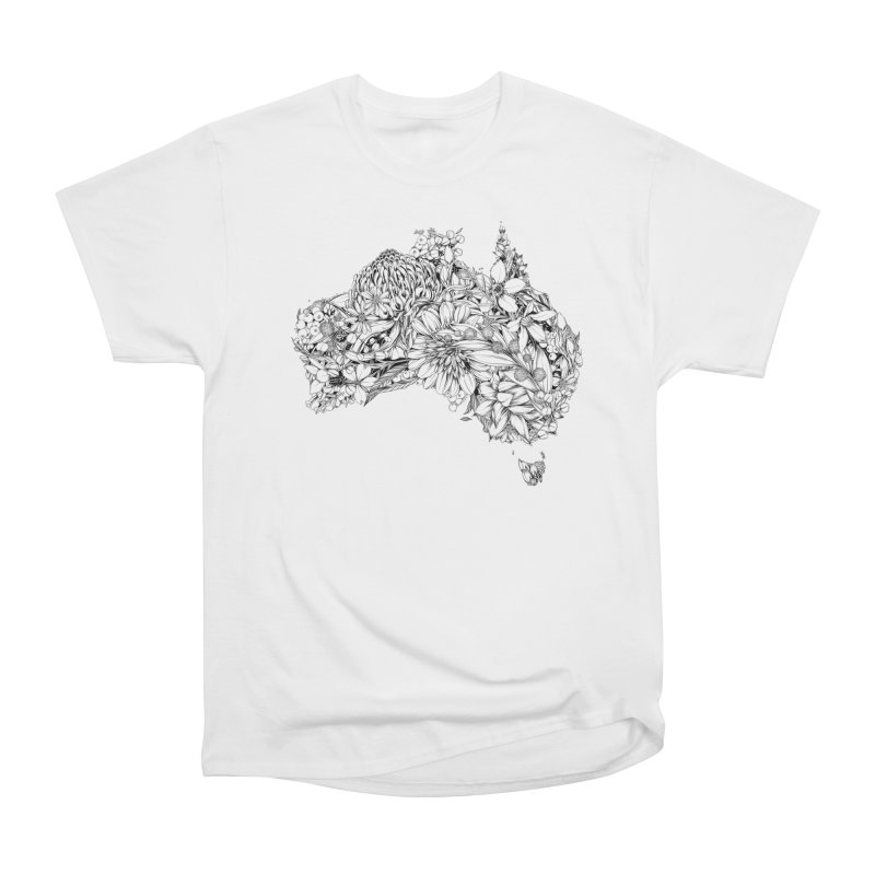 Australia Native Men's T-Shirt by littlepatterns by Maggie Enterrios