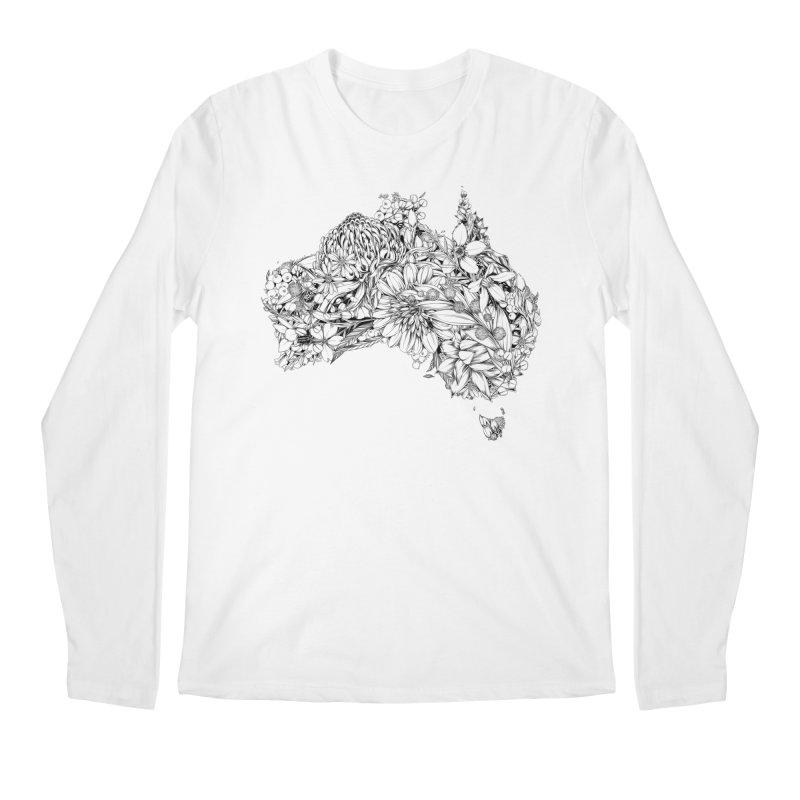 Australia Native Men's Longsleeve T-Shirt by littlepatterns by Maggie Enterrios