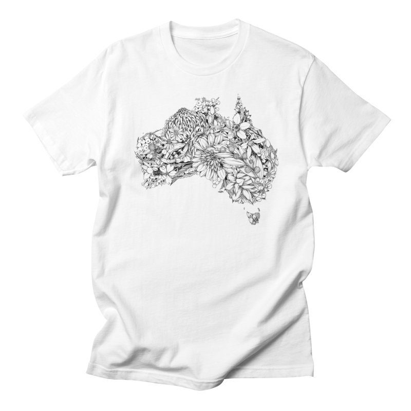 Australia Native Men's T-Shirt by littlepatterns by Maggie Enterrios