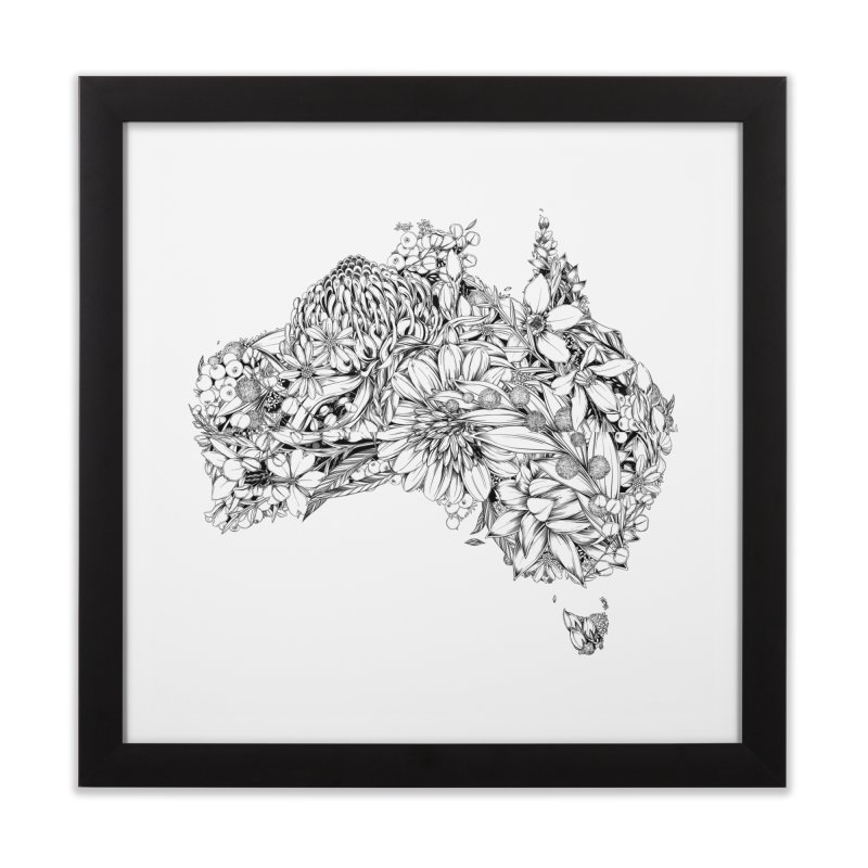Australia Native Home Framed Fine Art Print by littlepatterns by Maggie Enterrios
