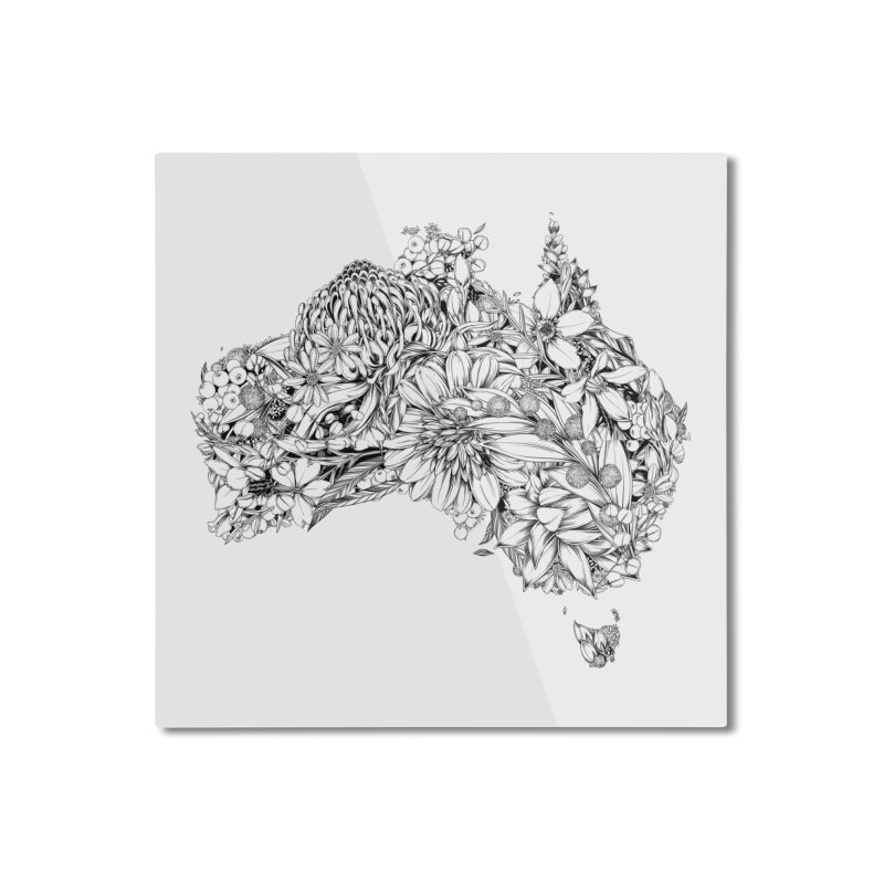 Australia Native Home Mounted Aluminum Print by littlepatterns by Maggie Enterrios
