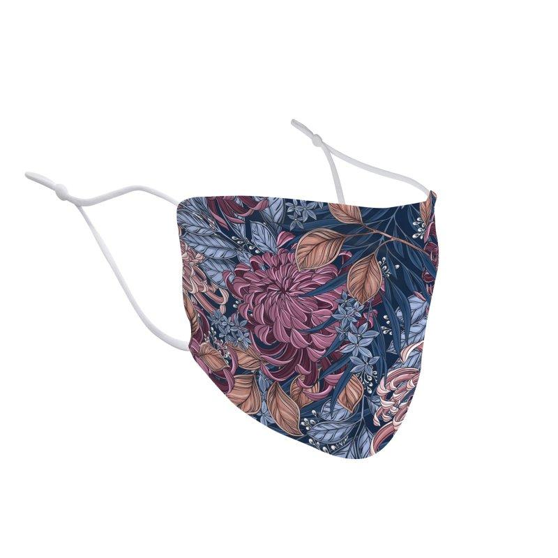Chrysanthemum Garden Accessories Face Mask by littlepatterns by Maggie Enterrios