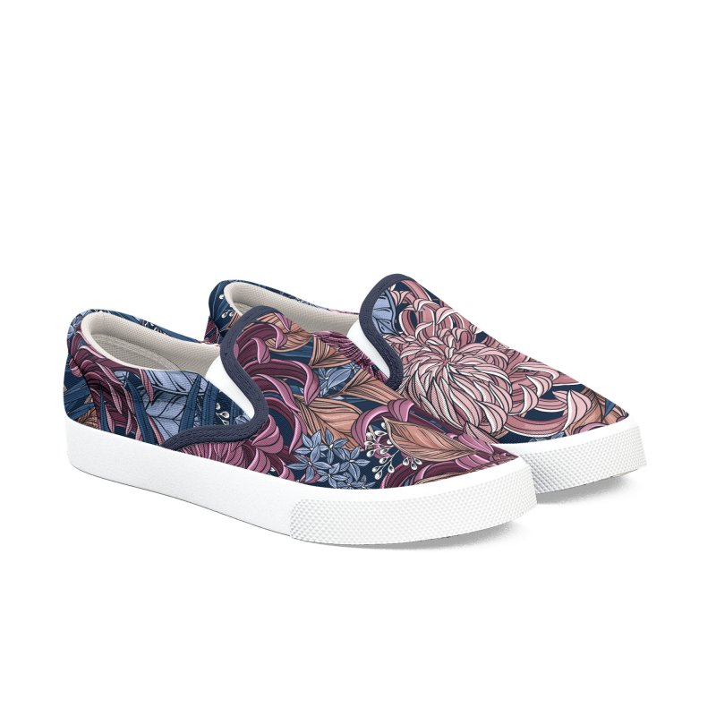 Chrysanthemum Garden Women's Shoes by littlepatterns by Maggie Enterrios
