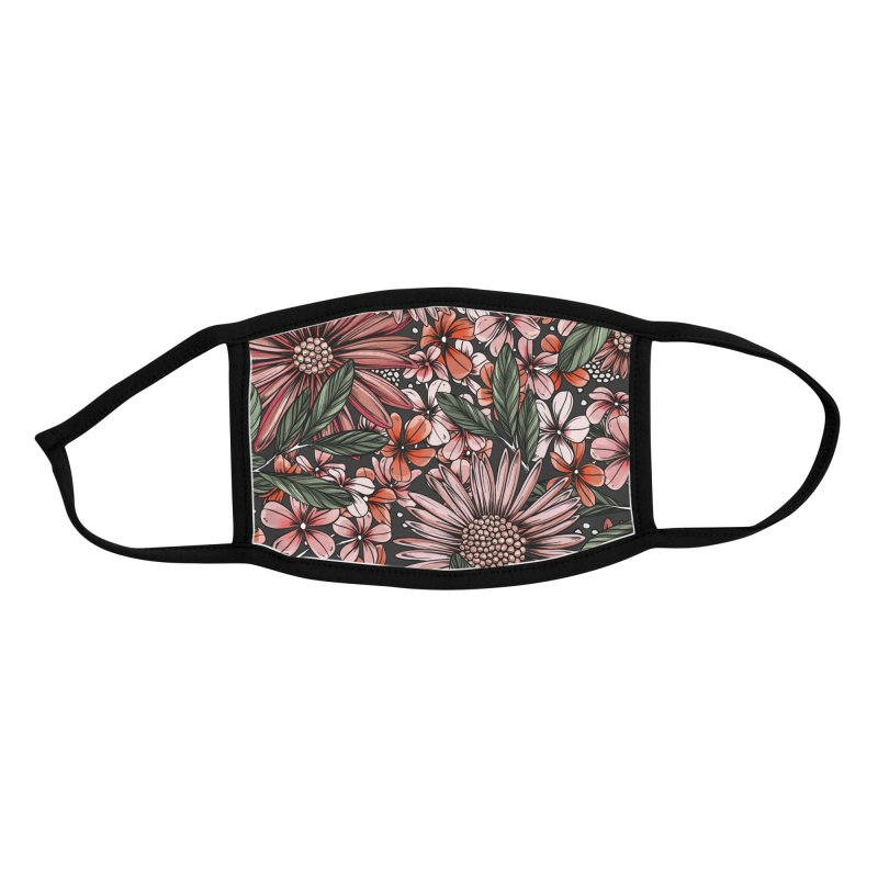 Gerbera Daisy Lights Accessories Face Mask by littlepatterns by Maggie Enterrios