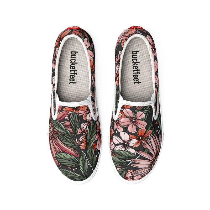 Gerbera Daisy Lights Women's Shoes by littlepatterns by Maggie Enterrios