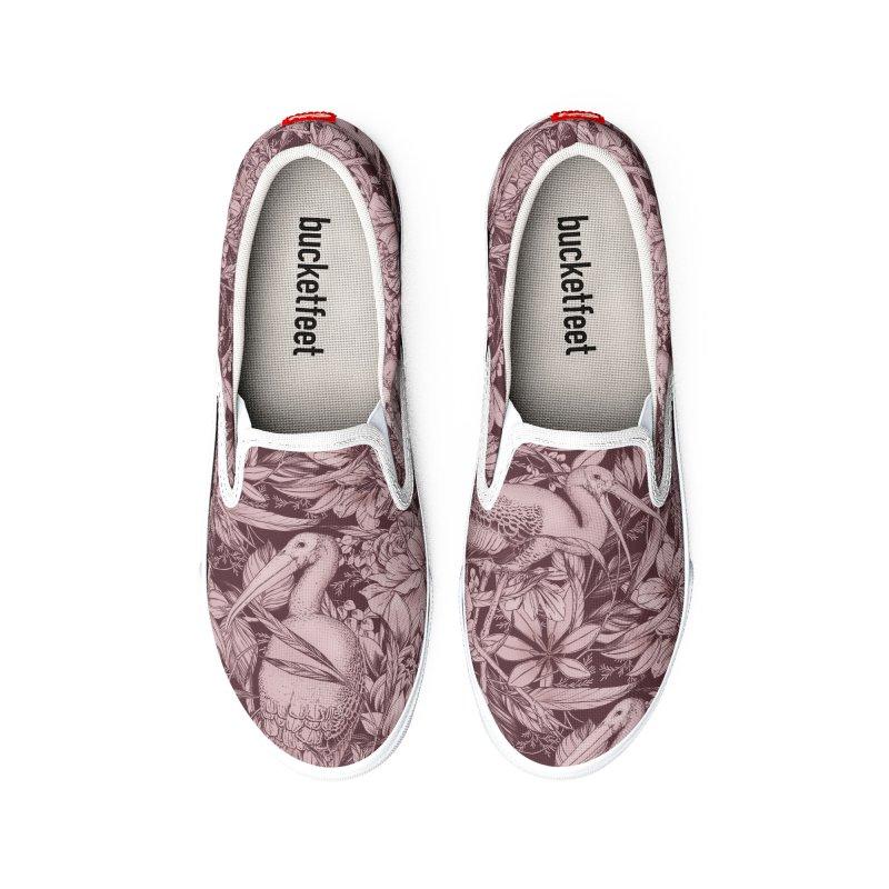 Stork Pattern Men's Shoes by littlepatterns by Maggie Enterrios