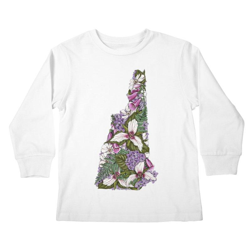 Trillium Kids Longsleeve T-Shirt by littlepatterns by Maggie Enterrios