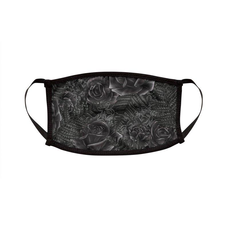 Dark Garden Accessories Face Mask by littlepatterns by Maggie Enterrios